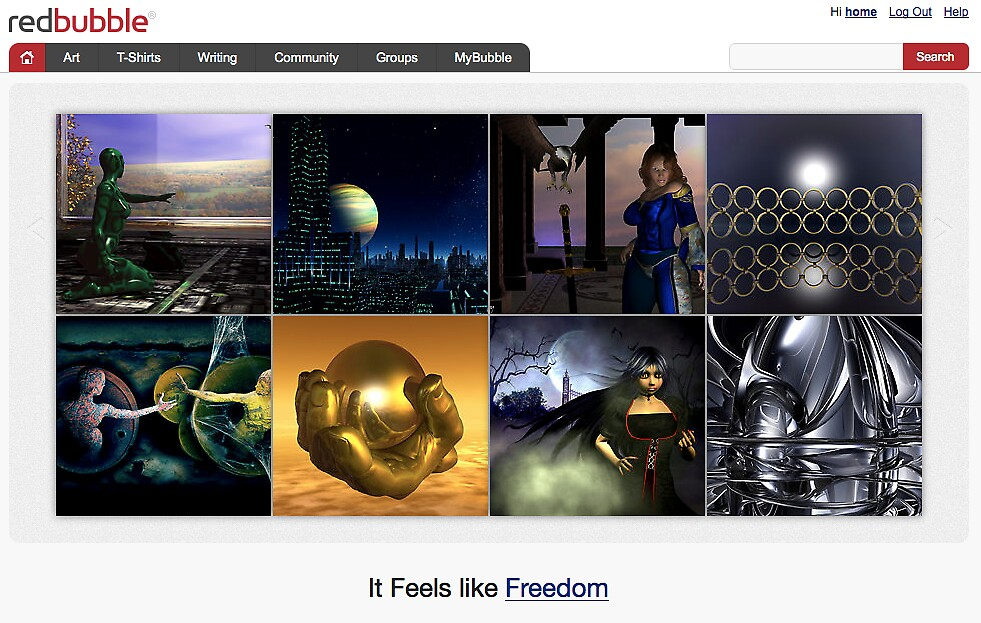 Bryce & Beyond - 17 October 2010 by The RedBubble Homepage