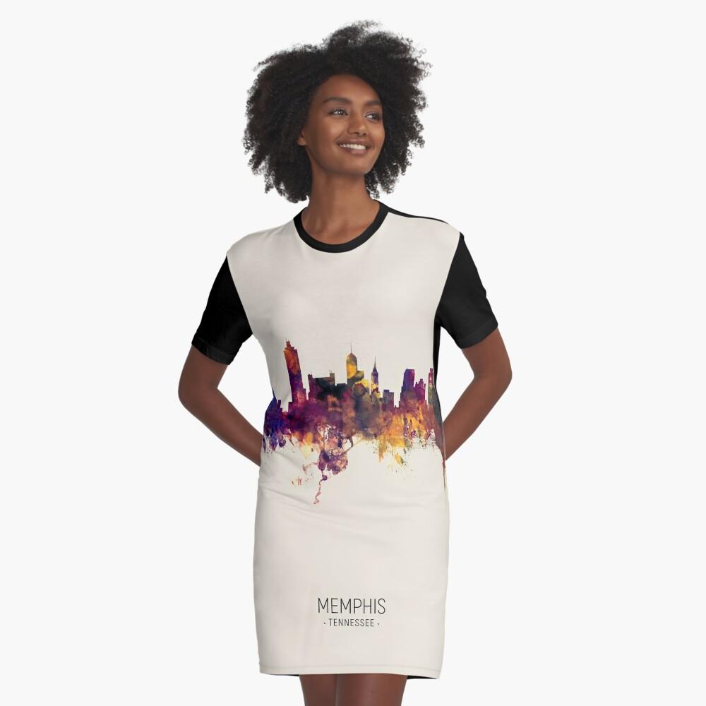 Memphis Tennessee Skyline Graphic T-Shirt Dress