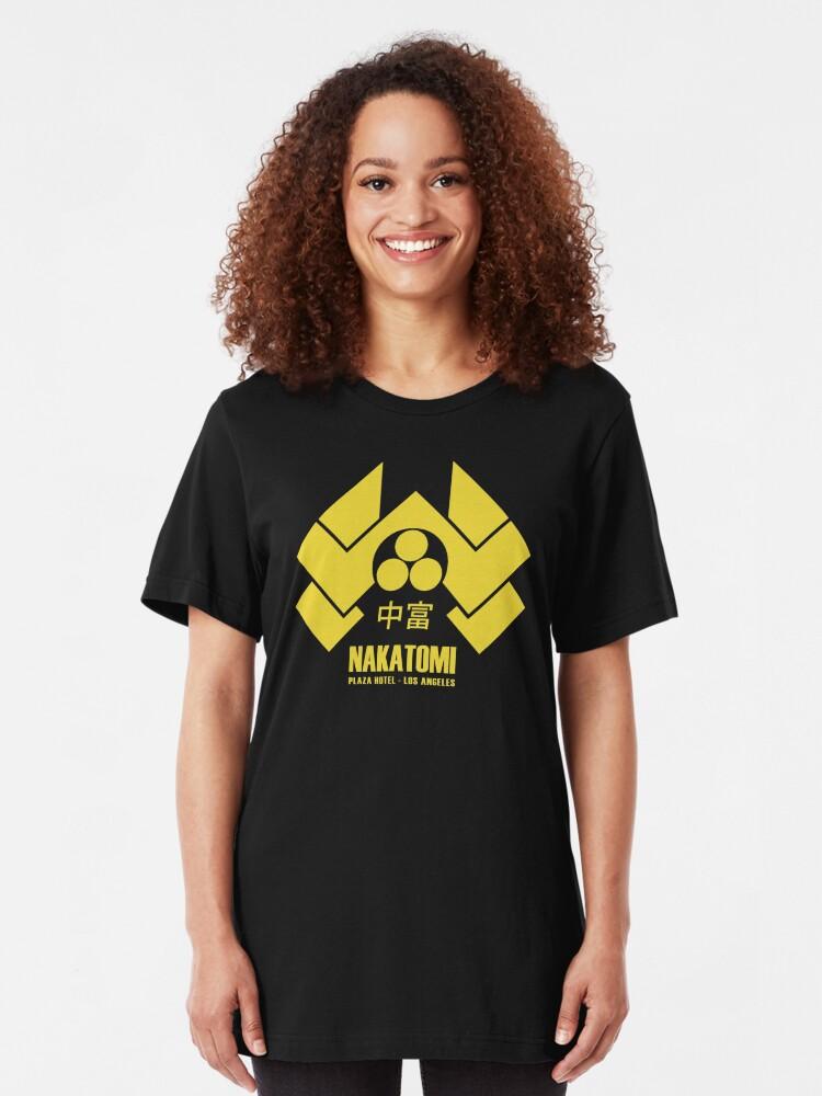 Alternate view of Nakatomi Plaza Slim Fit T-Shirt
