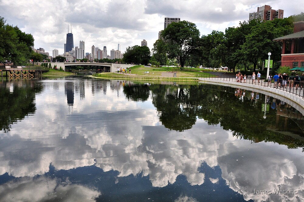 Lincoln Park Lagoon at the Café Brauer by James Watkins