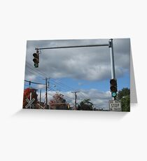 Traffic Lights for the train signal crossing Greeting Card
