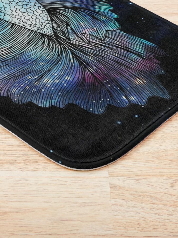 Alternate view of Betta Fish Galaxy Bath Mat