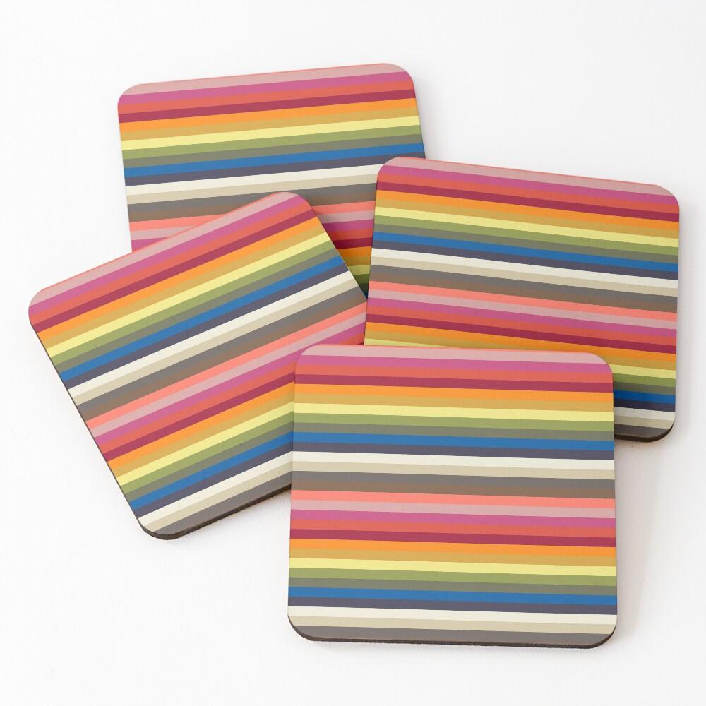 Stripes   Pantone   Color Trends   Spring Summer 2019 2020   London   Stripe Patterns   Striped Patterns   Fashion Colors   Coasters (Set of 4)