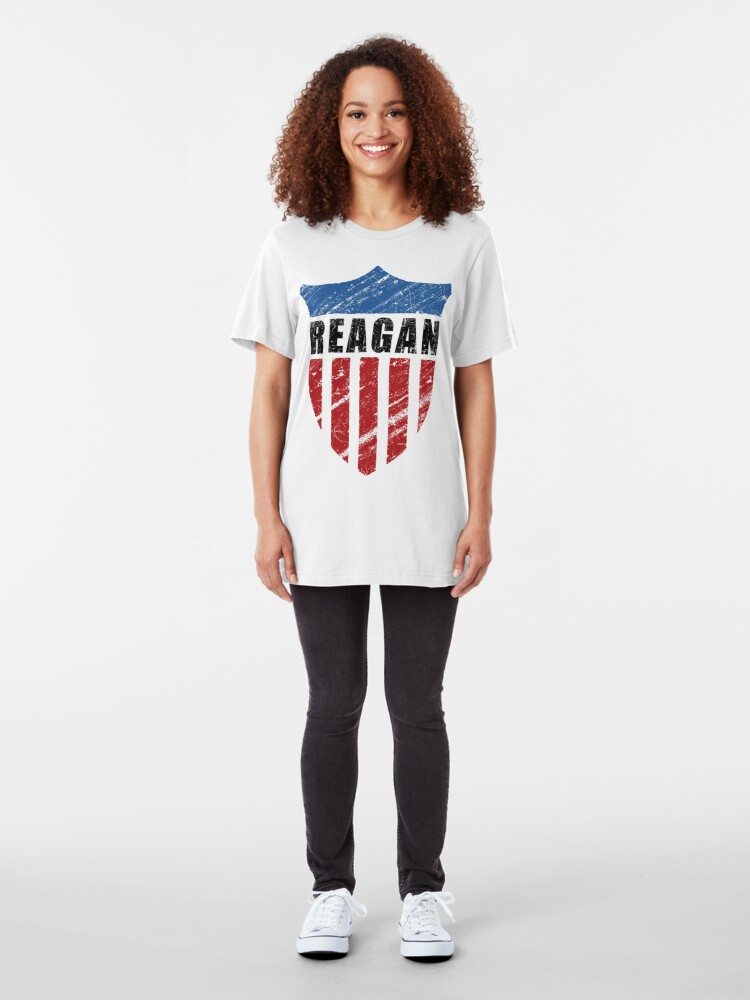 Alternate view of Reagan Patriot Shield Slim Fit T-Shirt