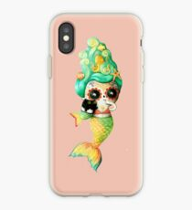 The Day of The Dead Cute Mermaid Girl. iPhone Case