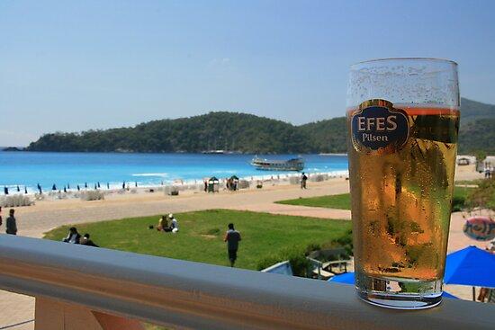 Beer by the beach - Olu Deniz, Turkey by craigs79
