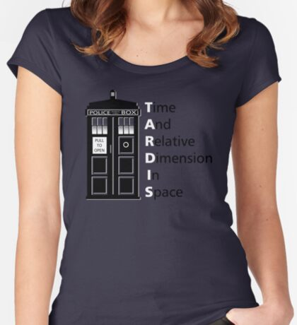 tIME bOX 3 Women's Fitted Scoop T-Shirt