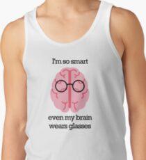 Brain Glasses – Text Tank Top