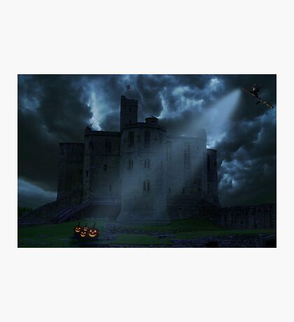 Castle at night Photographic Print