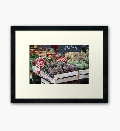 Cahors Market Framed Print