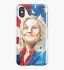 Fictional American Leslie Knope Parks & Recreation Fanart iPhone Case/Skin