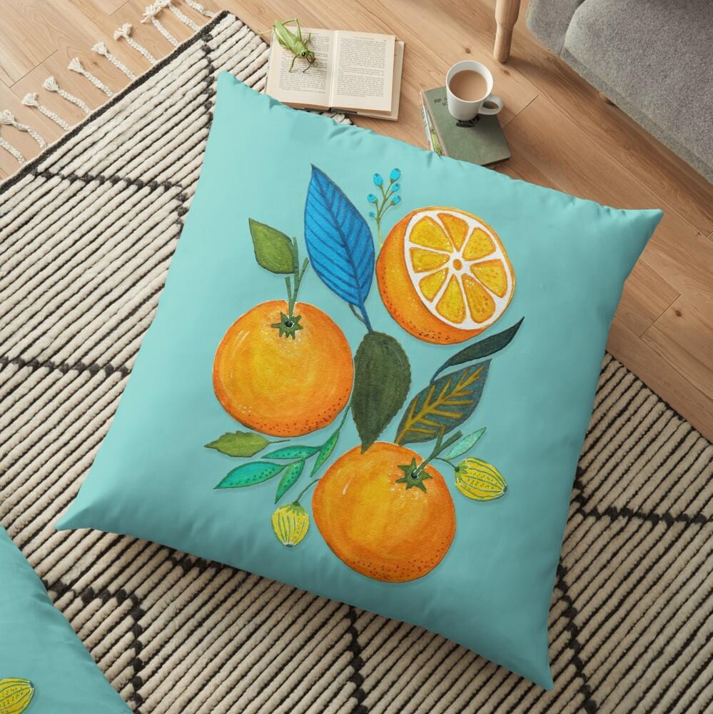 Lady Orange Floor Pillow