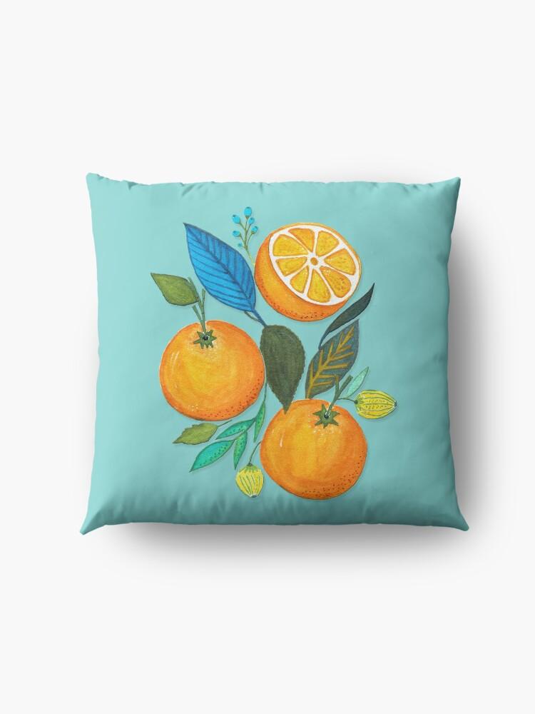 Alternate view of Lady Orange Floor Pillow