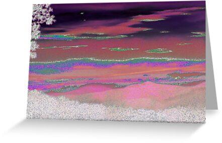 Tie Dye Mountain Sunset by Julié Pearce