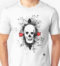 Poker skull with splater all over Unisex T-Shirt