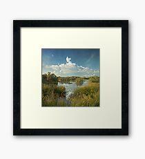 sea flood ponds Framed Print