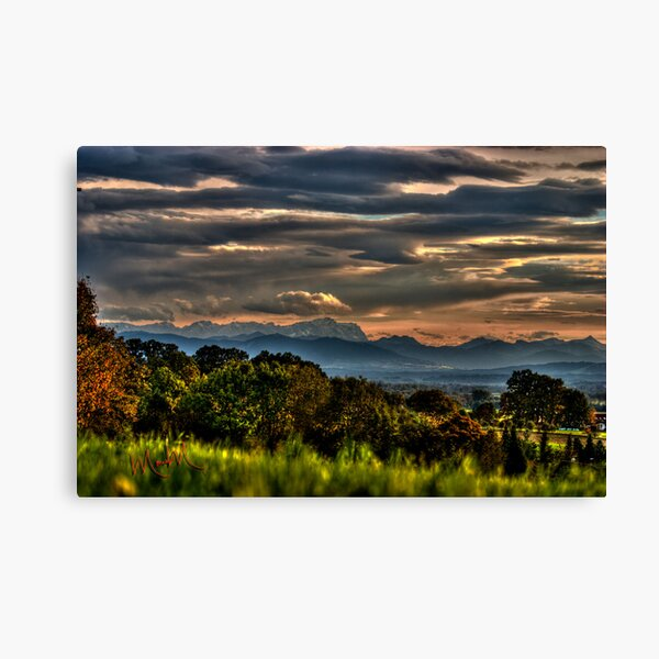 Valley of the Alps Canvas Print