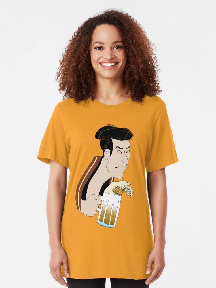 Alternate view of Ukiyoe Kampai! Slim Fit T-Shirt