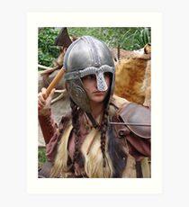 Dark Age Viking Warrior Woman Art Print