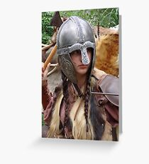 Dark Age Viking Warrior Woman Greeting Card