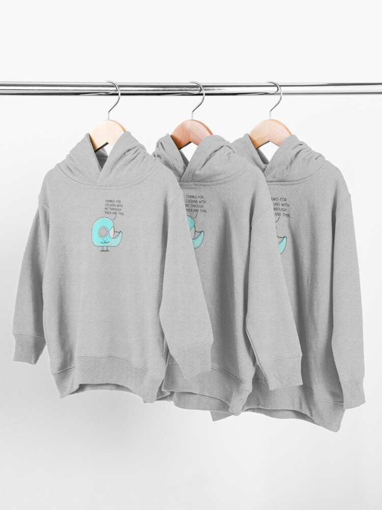 Alternate view of Let's stick together... Toddler Pullover Hoodie