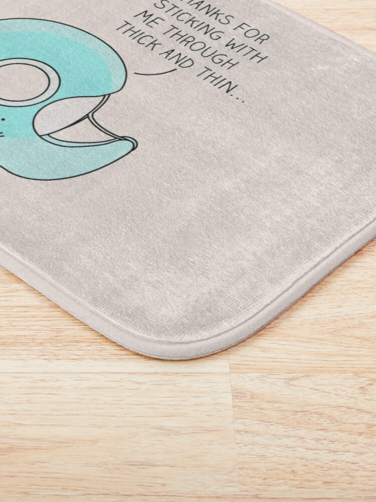 Alternate view of Let's stick together... Bath Mat