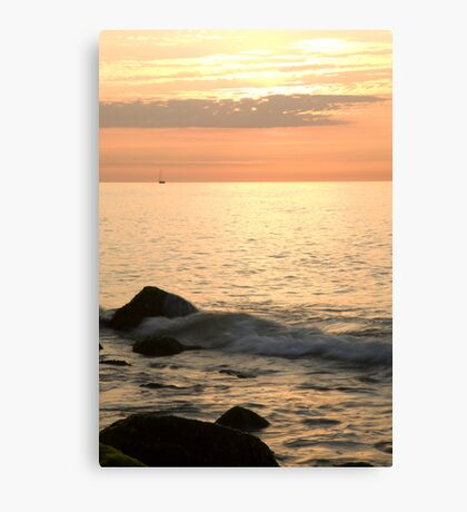 Sunrise at the White Cliffs of Dover Canvas Print
