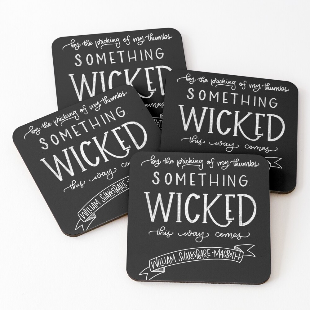 Something Wicked This Way Comes Coasters (Set of 4)