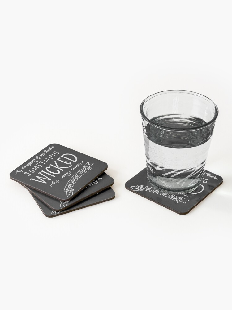 Alternate view of Something Wicked This Way Comes Coasters (Set of 4)