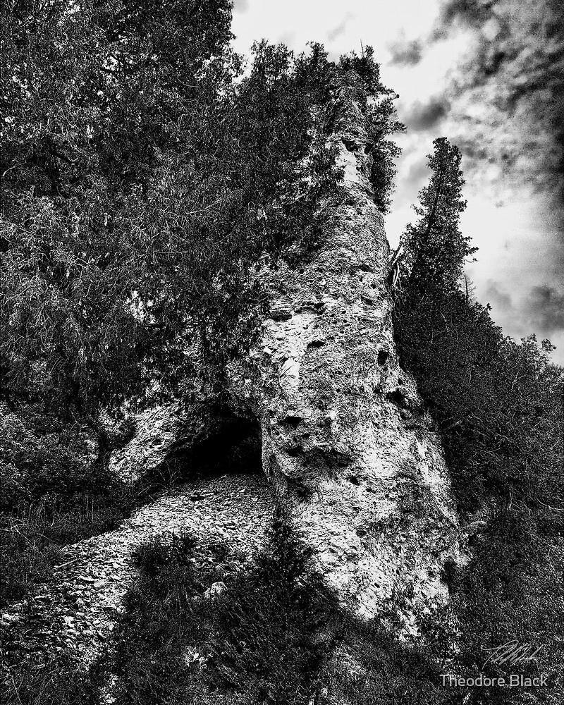 Below Arch Rock by Theodore Black
