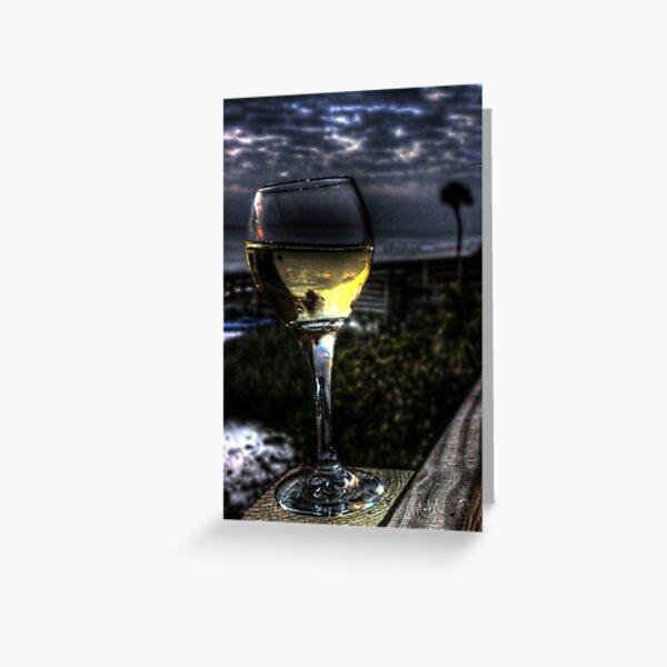 Wine on the Beach Greeting Card
