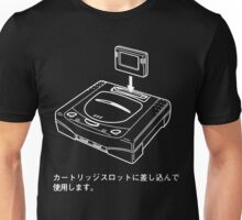Sega Saturn Diagram (Dark) Unisex T-Shirt