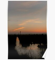 DAWN OVER THE WETLANDS OF THE FOCHTELOERVEEN Poster