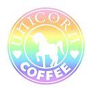 Regenbogen Einhorn Kaffee von CanisPicta