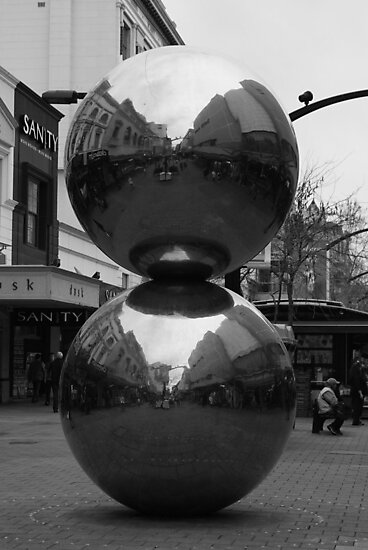Rundle Mall Balls in Black and White by Rochelle Buckley