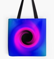 Abstract swirling black hole Tote Bag