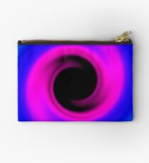 Abstract swirling black hole Studio Pouch