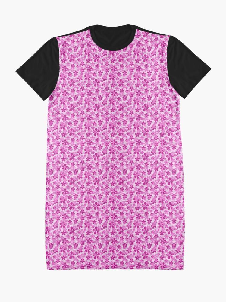 Alternate view of Sakura Chevron in Pink Graphic T-Shirt Dress
