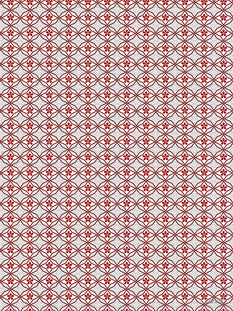 Asian Traditional Inspired in White and Red by Sarinilli