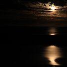 Moonlight Over the Gulf - McLeods Beach  by cookieshotz