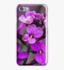 Macro Pink Flowers Square Photo iPhone Case/Skin