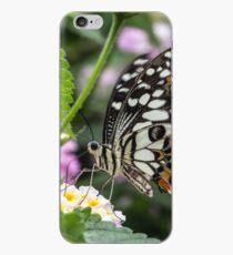 Macro Butterfly on Flowers iPhone Case