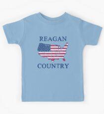 Retro 80s Reagan Country Kids Tee