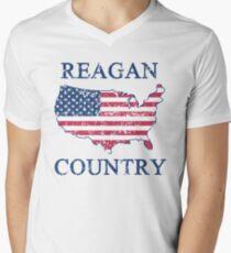 Retro 80s Reagan Country Men's V-Neck T-Shirt