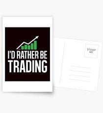 I'd Rather be Trading Stock Market Trading , Currency Business Financial Planner Postcards