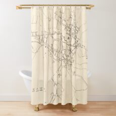 Paisley | Old Scottish Town Plan, Antique Map of Paisley, Scotland Shower Curtain
