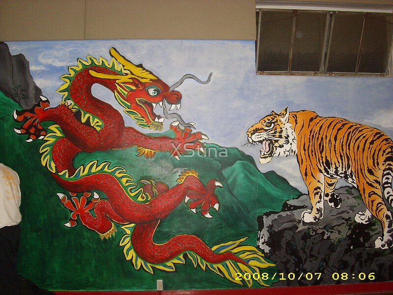 Gold Dragon Vs Red Tiger