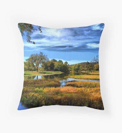 Autumn River Throw Pillow
