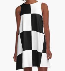 Checkmate A-Line Dress