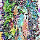 Mary, die im Garten betet von Marie Sharp